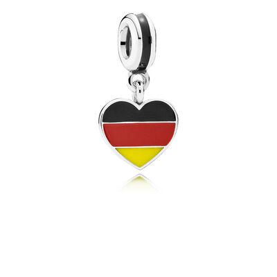 Herzflagge Deutschland Charm-Anhänger