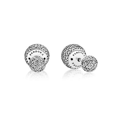 Pavé Drops Stud Earrings
