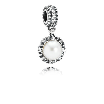 Sparkling Pearl Pendant Charm