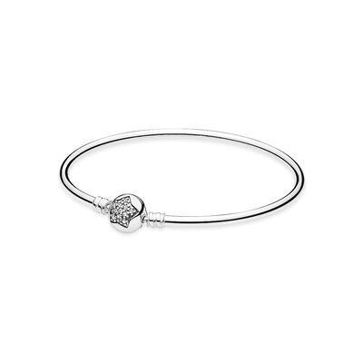 Moments Star Silver Bangle