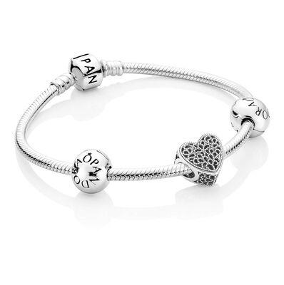 Romance Heart Charm  Bracelet