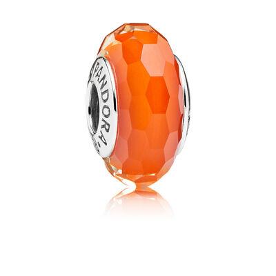 Orange faceted murano Charm
