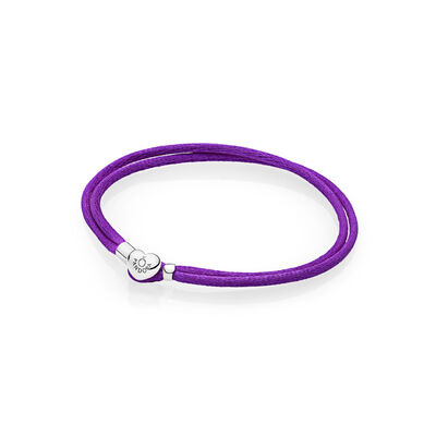 Moments Fabric Cord Bracelet, Purple