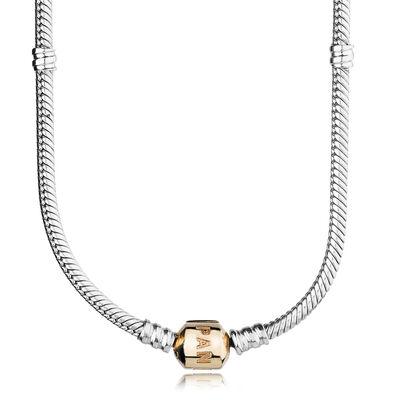 PANDORA Charm-Halskette, bicolor