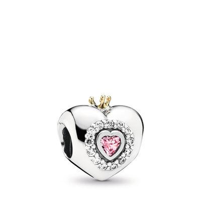 Pink Princess Heart Charm