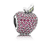 Red Pavé Apple Charm