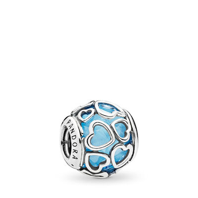 Blue Encased in Love Charm
