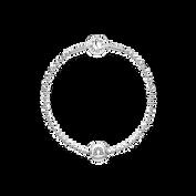Essence Libra Beaded Silver Bracelet