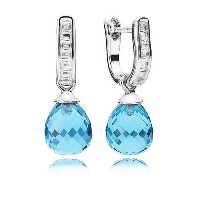 Sky Blue Frosted Droplets earrings