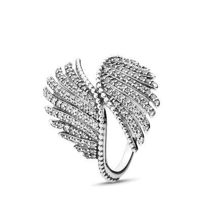 Schimmernde Phoenixfeder Ring