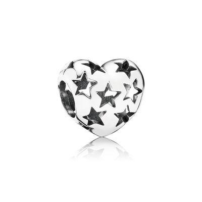 Starry Heart Openwork Charm