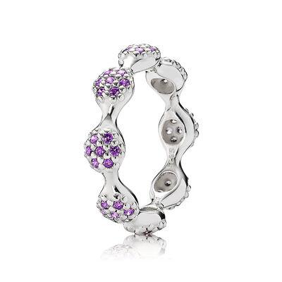 Eight Pod Purple Pavé Ring