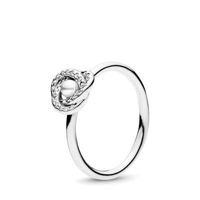 Glänzender Liebesknoten Ring