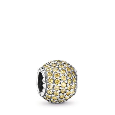 Golden Pavé Ball Charm