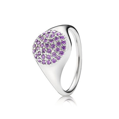 Large Purple Pavé Ring