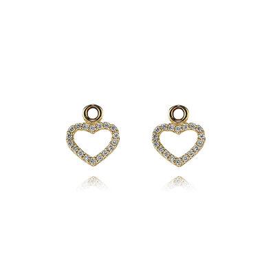 Gold earring, 0.144ct TW h/vs diamonds