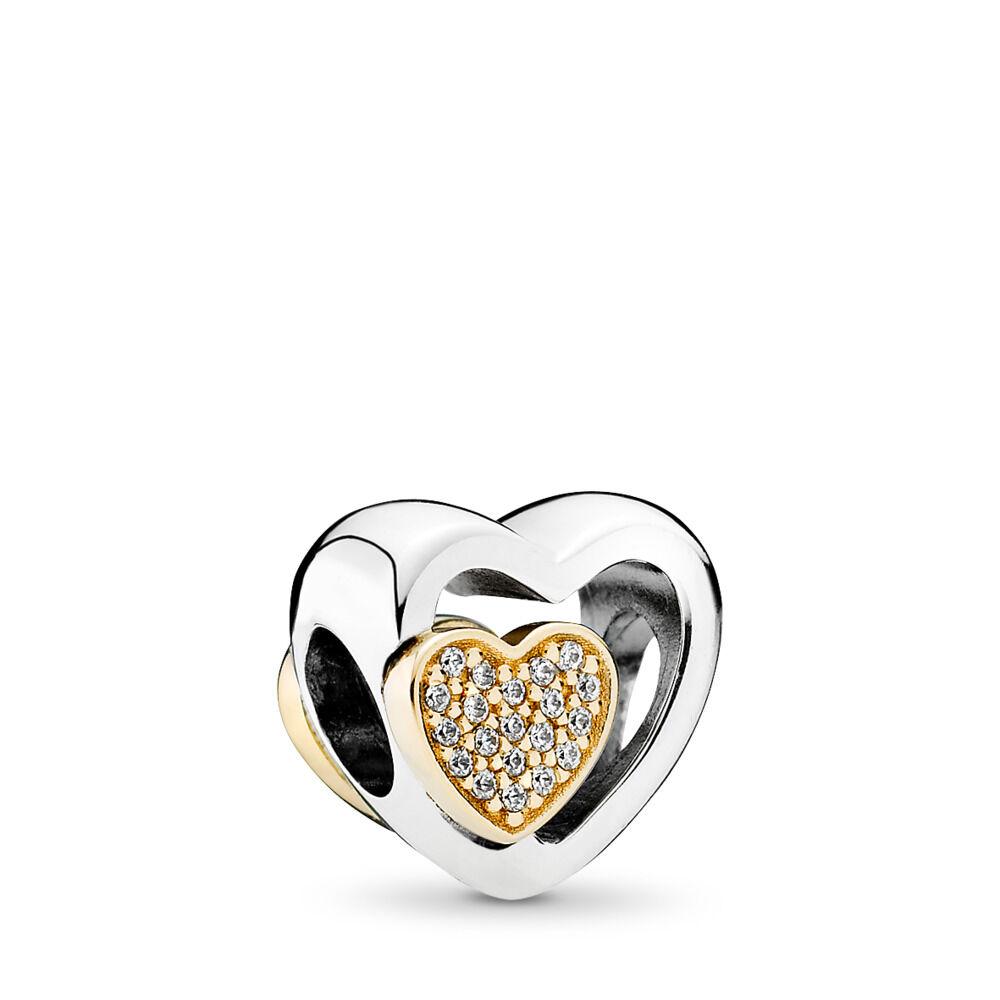 Two Hearts In One Charm Pandora UK PANDORA ESTORE