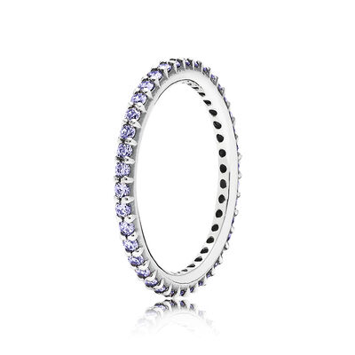 Thin Purple Eternity Ring