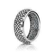Pierścionek ze srebra, cyrkonia sześcienna