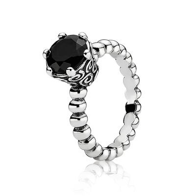 Black Spinel Bubble Ring