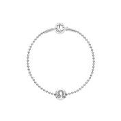 Essence Leo Beaded Silver Bracelet