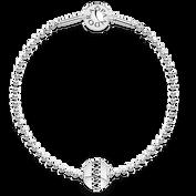 Kulkowa Bransoletka Essence ze srebrnym charmsem Miłość
