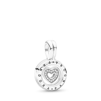 Floating Locket Pendant Charm