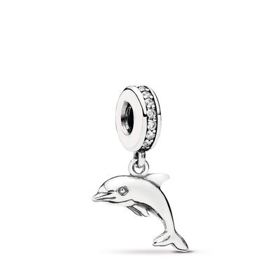 Verspielter Delphin Charm-Anhänger
