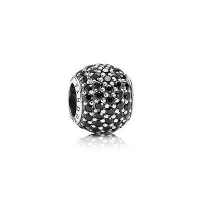 Black Pavé Ball Charm