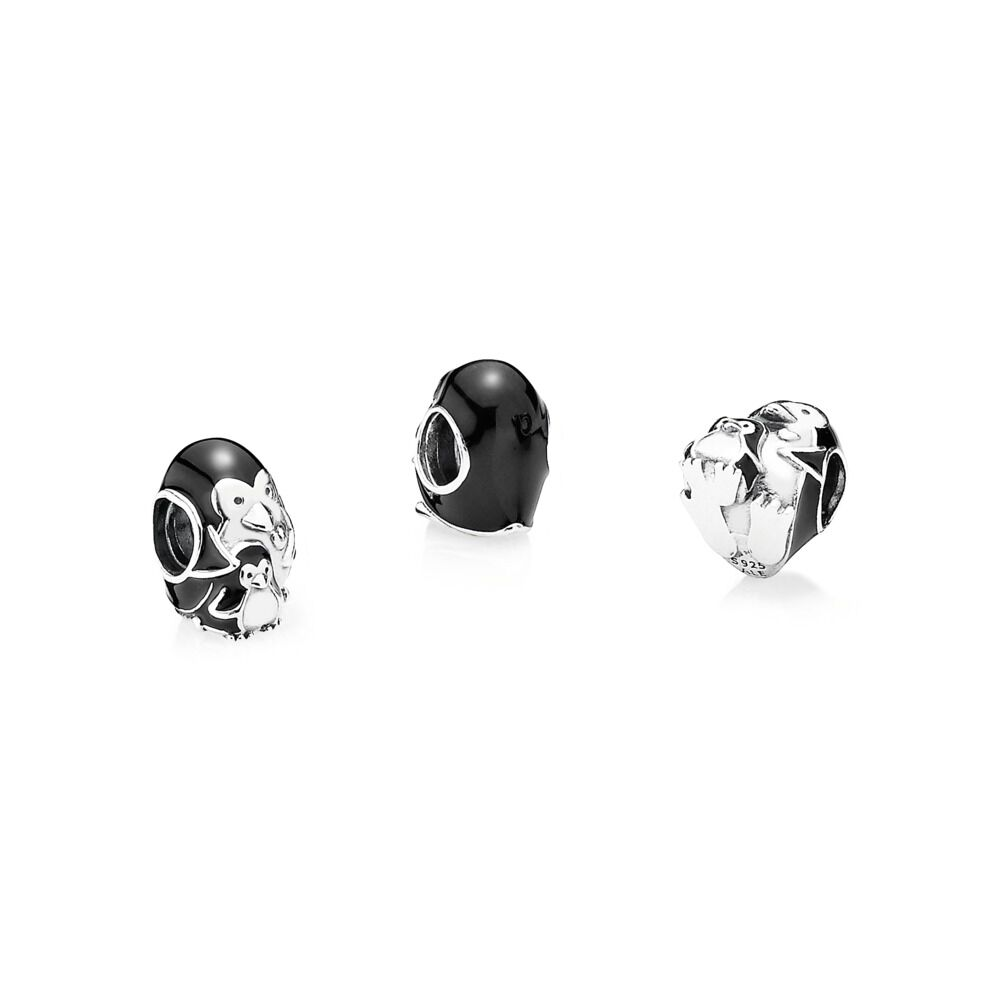 pandora charms penguin family
