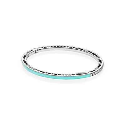 Mint Radiant Hearts of PANDORA Bangle
