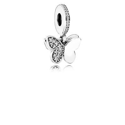 Fluttering Butterflies Pendant Charm