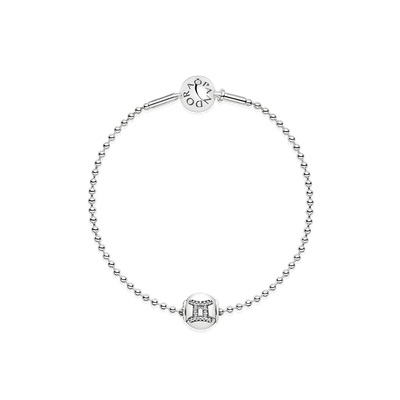Essence Gemini Beaded Silver Bracelet