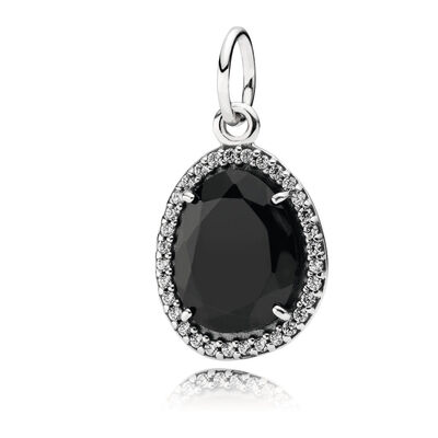 Sparkling Black Spinel Necklace Pendant