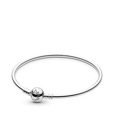 Pandora Charm-Armreif, silber mit Kugelverschluss