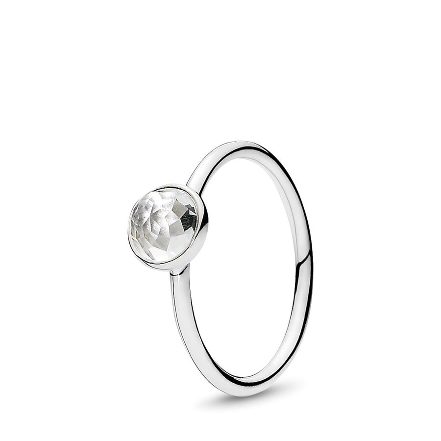 Artikel klicken und genauer betrachten! - Pandora Ringe 191012RC-60 - Der Monat April wird durch den Bergkristall repräsentiert. Die femininen floraren Facetten des Steins werden besonders durch den neuen Blumen-Schliff in den Fokus gesetzt und bringen die innere Leuchtkraft des Steins hervor. Bergkristalle symbolisieren Werte wie Geduld und Klarheit. - 191012RC-60 Pandora Ringe | im Online Shop kaufen