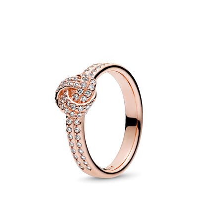 Sparkling Love Knot Ring