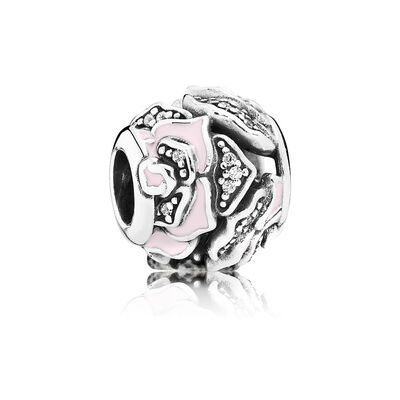 Pink Delicate Rose Charm