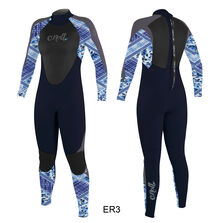 Epic 3/2mm back zip full wetsuit womens