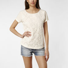 Lace Front Detail T-Shirt