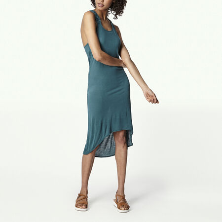 Ruffle Hem Jersey Dress
