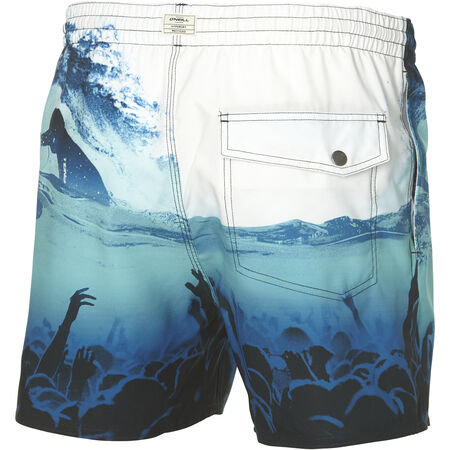 Mid Vert Photo Art Swim Short