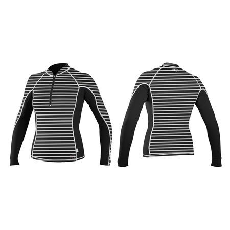 Skins front-zip long sleeve crew womens