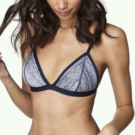 Print Triangle Bikini Top
