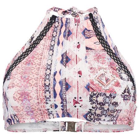 Crochet Edge High Neck Bikini Top