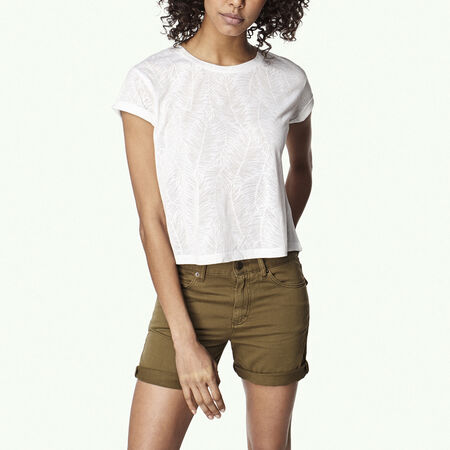 Crop Split Back T-Shirt