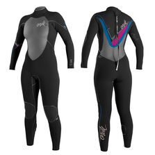 Psycho 3 zen zip 3/2mm full wetsuit womens