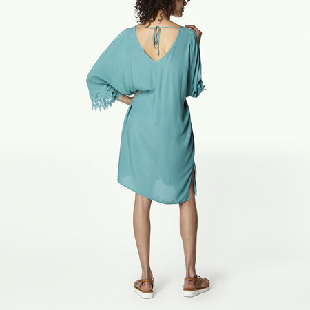 Lace Sleeve Beach Kimono