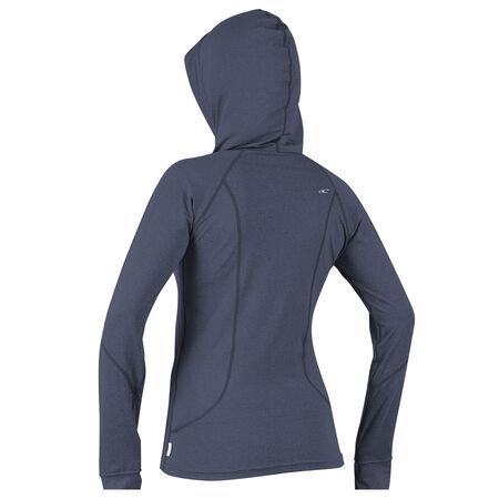 Hybrid long sleeve full zip hoody skins womens