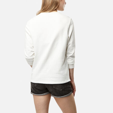Lace Detail Crew Sweatshirt